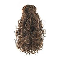 14 inch הבינוני אובורן נתפס עם קליפס מסולסל קוקו אלסטי דובי קליפר / לסת קליפ סינטטי חתיכת שיער הַאֲרָכַת שֵׂעָר