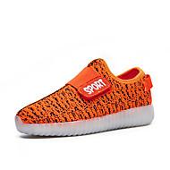 tanie Obuwie chłopięce-Dla chłopców / Dla dziewczynek Obuwie Materiał Wiosna Wygoda / Świecące buty Adidasy Tasiemka / LED na Czerwony / Zielony / Niebieski