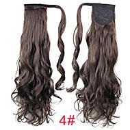 Con clip Code Capelli sintetici Pezzo di capelli Estensione capelli Riccio