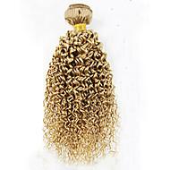 Cabelo Humano Cabelo Brasileiro Precolored Tece cabelo Enrolado Cacheado Extensões de cabelo 1 Peça # 27