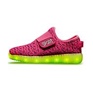 olcso -Fiú / Lány Cipő Szövet Tavasz Kényelmes / Világító cipők Tornacipők Átlátszó ragasztószalag / LED mert Piros / Zöld / Kék
