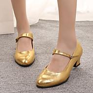 billige Moderne sko-Dame Latin Glimtende Glitter Semsket lær Syntetisk Sandaler Høye hæler Joggesko Innendørs Draperinger Spenne Bølgemønster Glimtende