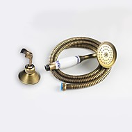 Antique Brass Blue And White Hand Shower with Shower Holder 1.5M hose Set