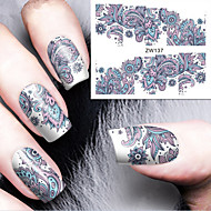 Fashion Printing Pattern Water Transfer Printing  Nail Stickers