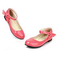 baratos Sapatos Femininos-Mulheres / Unisexo Sapatos Couro Envernizado Primavera / Verão Conforto / MaryJane Sem Salto Presilha Vermelho / Rosa claro / Coral