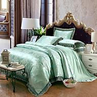 Yuxin®Tencel Fabric Modal Satin Jacquard Bedding Wedding Suite 4 Piece   1.5m-1.8m/2.0m  bed  Bedding Set