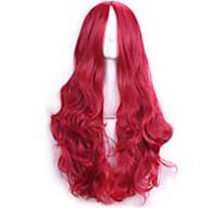 Kobieta Peruki syntetyczne Tkany maszynowo Długo Kręcone Przedziałek na środku Halloween Wig Karnawałowa Wig Costume Peruki