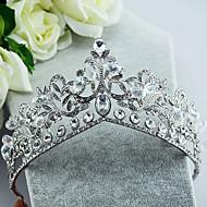 billiga Brudhuvudbonader-Bergkristall Legering Tiaras 1 Bröllop Speciellt Tillfälle Hårbonad