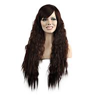Syntetiske parykker Naturligt, bølget hår Syntetisk hår Brun Paryk Dame Lang Lågløs