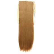 peruca de ouro 60 centímetros de alta temperatura estilo cinta fio rabo de cavalo cabelos lisos peruca 27j cor