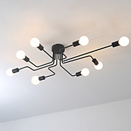 cheap -Wrought iron 8 heads Multiple rod ceiling dome lamp creative personality retro nostalgia cafe bar ceiling light