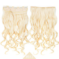 "blonde 24 ""(60cm) 120 g # 613 lang golvend krullend synthetichair weeft clip in hair extensions 5clips hittebestendige goedkoopste"