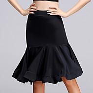 お買い得  ダンス用品-ラテンダンス ボトムズ 女性用 演出 レーヨン ルーズブーツ 1個 ノースリーブ ハイウエスト スカート