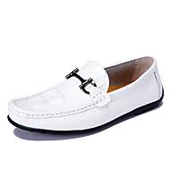 baratos Sapatos Masculinos-Homens Sapatos Pele Napa Primavera / Verão / Outono Conforto Rasos Sem Salto Pregueado Branco / Preto / Amarelo