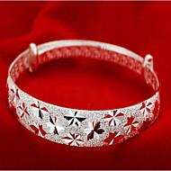 Kadın's Bilezikler Som Gümüş Bayan Moda Bilezikler Mücevher Gümüş Uyumluluk Yılbaşı Hediyeleri