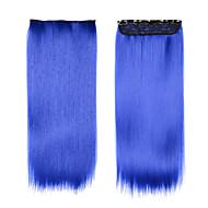"""저렴한 헤어 제품, 합성 파란 머리 24 """"합성 가발의 코스프레 헤어 피스에서 (60cm) 120g 클립"""