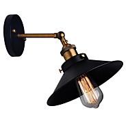billige Krystall Vegglys-Rustikk / Hytte Vegglamper Metall Vegglampe 110-120V / 220-240V 60W