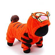 Gato Cachorro Fantasias Macacão Roupas para Cães Fofo Fantasias Férias Desenhos Animados Laranja Ocasiões Especiais Para animais de