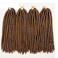 Fletning af hår Hæklet / Havana dreadlocks / Dreadlocks / Faux Locs 100% kanekalon hår / Kanelkalon 24 rødder / pakke Hårfletninger Dreadlock Extensions / Falske dreads / Falske hæklede dreads