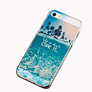 billiga Mobil cases & Skärmskydd-fodral Till iPhone 5 Apple iPhone 5-fodral Mönster Skal Landskap Mjukt TPU för iPhone SE/5s iPhone 5