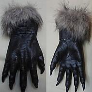 o dia das bruxas luvas horror diabo partido adereço luvas de lobo do homem-lobo patas lobo garras cosplay luvas de brinquedos teatro traje
