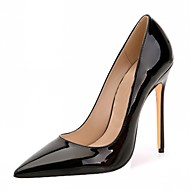 baratos Sapatos Femininos-Homens / Mulheres / Unisexo Sapatos Couro Envernizado / Microfibra Primavera / Verão Saltos Salto Agulha Poa Amêndoa / Vinho / Coral