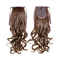 Long Curly Wave Tail 22inch 55cm 100g #12 Brown Cheap Synthetic Hair Extensions Drawstring Ponytails