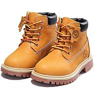 baratos Sapatos de Menino-Para Meninos Sapatos Pele Napa Outono / Inverno Conforto / Botas Cowboy / Country Botas para Marron / Botas Curtas / Ankle