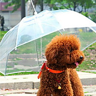 Dog Umbrella Pet Carrier Waterproof Portable Solid Transparent