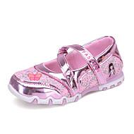tanie Obuwie dziewczęce-Dla dziewczynek Buty Tiul Lato Świecące buty Buty płaskie Satynowy kwiatek na Casual Fuchsia Różowy
