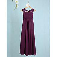 Ίσια Γραμμή Λουριά Μέχρι τον αστράγαλο Σιφόν Φόρεμα Νεαρών Παρανύμφων με Πιασίματα με LAN TING BRIDE® / Φυσικό