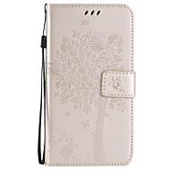 Θήκη Za Samsung Galaxy Samsung Galaxy Maska Utor za kartice Novčanik sa stalkom Zaokret Reljefni uzorak Korice drvo Mekano PU koža za