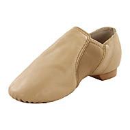 billige Jazz-sko-Barne Jazz Dansestøvler Kunstlær Flate Innendørs Profesjonell Blomst Flat hæl Svart Brun Kan ikke spesialtilpasses
