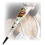ハロウィーン白いグリッターヘナコーンボディアートmehandiインクjagua一時的な入れ墨のキット