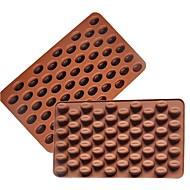 billige Bakeredskap-3d kaffebønner 55 hulrom kaffebønneform sjokoladeform silikon sjokoladeform
