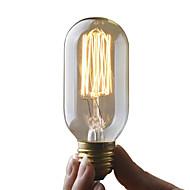 Χαμηλού Κόστους Τέλειοι λαμπτήρες φωτισμού-UMEI™ 1pc 40 W E27 E26/E27 T45 2300 κ Λαμπτήρας πυρακτώσεως Vintage Edison AC 220-240V V