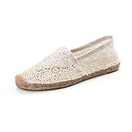 baratos Sapatos Femininos-Mulheres Sapatos Verão Alpargata Mocassins e Slip-Ons Caminhada Sem Salto Branco / Preto / Vermelho