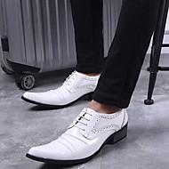 お買い得  メンズオックスフォードシューズ-男性用 靴 エナメル 春 / 秋 フォーマルシューズ オックスフォードシューズ ホワイト / ブラック / パーティー / ノベルティシューズ
