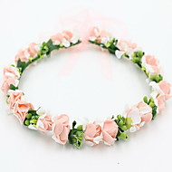 linda rosa grinaldas de flores cabeça para a senhora festa de casamento o cabelo do feriado de jóias