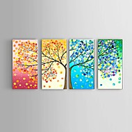 Handpainted Oil Painting Four seasons lucky Tree Landscape Stretched Frame Ready To Hang