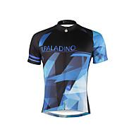 ILPALADINO 男性用 半袖 サイクリングジャージー バイク ジャージー, 速乾性, 抗紫外線, 高通気性