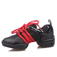 Dječji Plesne tenisice Moderan Umjetna koža Oksfordice Čizme Tenisice Seksi blagdanski kostimi Vježbanje Ravna potpetica Crn Crvena Zlatan