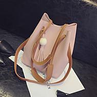 baratos Bolsas de Ombro-Mulheres Bolsas PU Bolsa de Ombro Sólido Azul / Rosa claro / Khaki