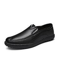Bărbați Pantofi Piele Primăvară Toamnă Confortabili Mocasini & Balerini Plimbare Pentru Casual Negru Maro