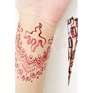 halloween természetes növényi henna ideiglenes mehandi tetoválás kúpok body art versha (piros)