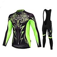 Malciklo Muškarci Dugih rukava Biciklistička majica s tregericama - Obala Crn Uglađeni Bicikl Bib Hulahopke Biciklistička majica Kompleti
