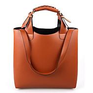 Women Bags All Seasons PU Shoulder Bag for Casual Outdoor Office & Career Orange Brown Pink