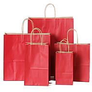 plagg mobil shopping veske gave pose gave emballasje, kan Kraft papir poser tilpasses logo en pakke med ti