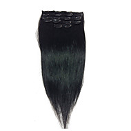 "18"" # 1 clip in real human hair extensions 8pcs / 80g"