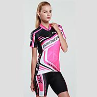 Mysenlan Camisa com Shorts para Ciclismo Mulheres Manga Curta Moto Conjuntos de Roupas Secagem Rápida Resistente Raios Ultravioleta